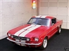 "red Mustang w/ White 10"" Stripe Kit"