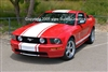 "Red Mustang w/ White 20"" Rally Stripe"