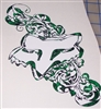 Fox Racing Green Fire Tribal Head Decal