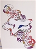 Fox Racing Rainbow Tribal Head Decal