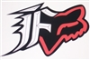 Fox Racing Red and Black F w/ Head Decal