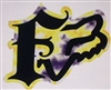 Fox Racing Yellow & Purple F w/ Head Decal