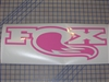 "Fox With Tail 8"" x 24"" Racing decal"