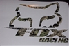 Large FULL COLOR Fox Racing Slant Head decal