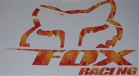 PRINTED FULL COLOR Fox Racing Slant Head decal
