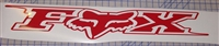 "LARGE Fox Racing 2009 10""X40"" Decal"