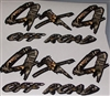 4X4 #1 Black and M4 Real Tree CAMO Decal