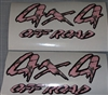 4X4 #1 Black and Real Tree PINK CAMO Decal