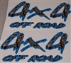 4X4 #1 BLUE and M4 Real Tree CAMO Decal