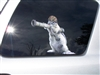 Army squirrel with Bazooka Window Decal