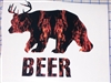 Bear + Deer = Beer Full color Decal