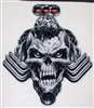 "Blown / Blower Head Nitro Skull 8"" x 9"" Full color Decal"