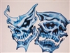 Blue Skull Mask Full color Decal