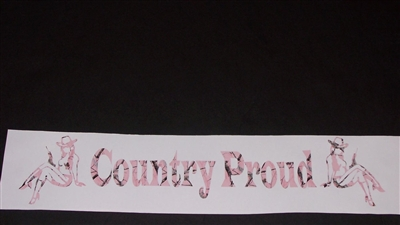 Country Proud Real Tree PINK Camo Decal