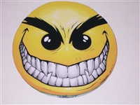 Evil Smiley Smile Full color Window Decal