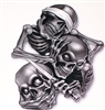 Hear Speak See No evil Skull Decal
