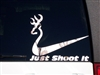 JUST SHOOT IT DEER HEAD  Decal