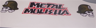 Metal Mulisha #1 Skull Windshield Decal