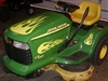 Green Lawn Tractor w/ Yellow Flame Set