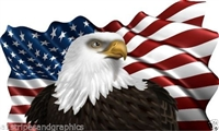 36X60 American Flag Eagle #2 Graphic Decal