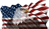 24X40 American Flag Eagle #1 Graphic Decal