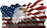 48X80 American Flag Eagle #1 Graphic Decal