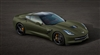 14-15 Green Corvette Stingray Wall/Trailer Decal
