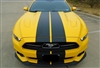 "2015 Mustang w/ 10"" Plain Rally Stripes