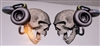 Pair (2) Turbo Skull Decal