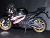 Black Motorcycle w/ WWII Warhawk Flying Tiger Shark Graphics Set