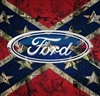 Full Color ford Confederate Rebel Flag Wall Trailer Tailgate RV graphic Mural decal