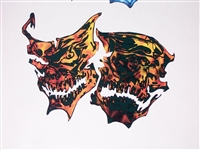 True Fire Skull Mask Decal