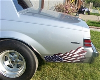 American Flag Rear Panel Decal