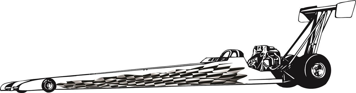 Checkered Flag Race Car Jr Dragster Graphics Set Fit All Styles