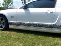White Challenger w/ Small Skull Rocker Stripes Full Color Side Decal