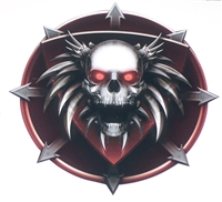 Tribal Skull Arrow Plague Side Decal
