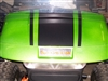 "Bright Green Golf Cart w/ Black 18.5"" Golf Cart Hood Stripes"