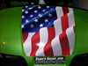 "Green EZGO Golf Cart 19"" American or Rebel Flag hood Stripe Decal"