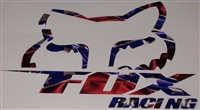REBEL FLAG FOX racing Slant Decal
