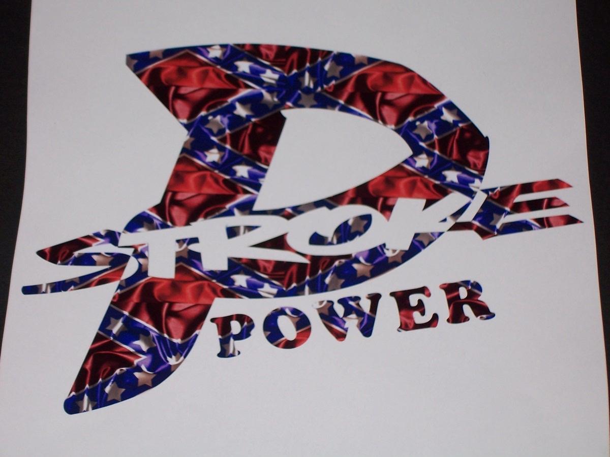 Rebel Flag P Power Stroke Power Decal