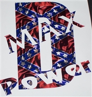 REBEL FLAG Duramax D Max Power   Decal