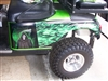 Green EZGO w/ Full Color Large Side Grim Reaper Flame