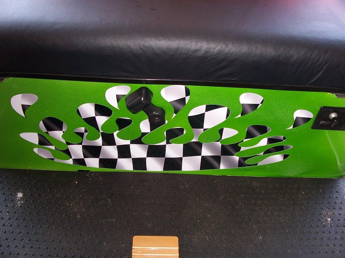 Golf Cart Full Color Splash Racing Checkered Flag Hood And
