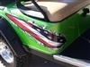 Green EZGGO w/ American Flag Full Color Ripped Metal Set