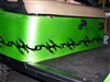 Green Golf Cart w/ Black Tribal Tattoo Graphic Set