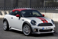 Silver Mini Coupe w/ Red & Gray Rally Stripe Set