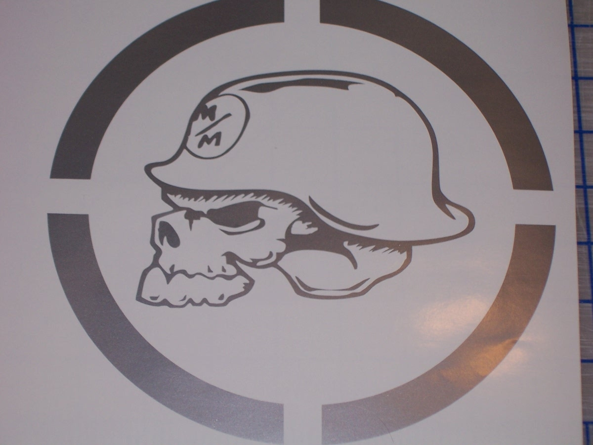 Metal Mulisha Skull Circle Window X Decal Sticker - Custom car window decals metal