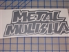 Metal Mulisha Skull Window 7X14 Decal