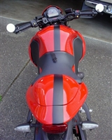 "Red Sport Bike w/ Black 2 3/8"" Stripe Kit"