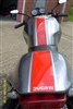 "Gray Motorcycle;e w/ Red and silver 4"" Stripe Kit"